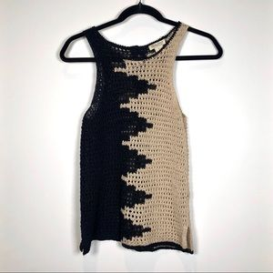 Lucky Brand Knit Tank with Button Down Back